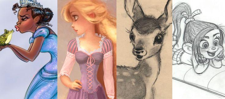 Os esboços dos filmes da Disney <3