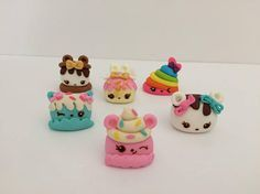 Num Noms Inspired Fondant Cake Toppers