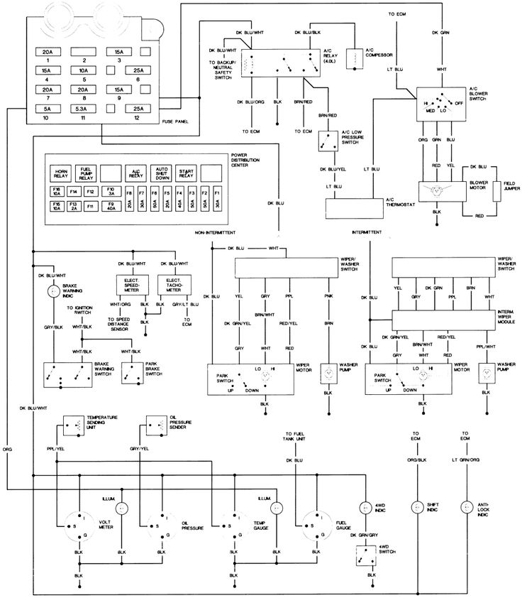 22 Best Jeep Yj Digramas Images On Pinterest Jeeps And Rhpinterest: 95 Wrangler Wiring Diagram Column At Oscargp.net