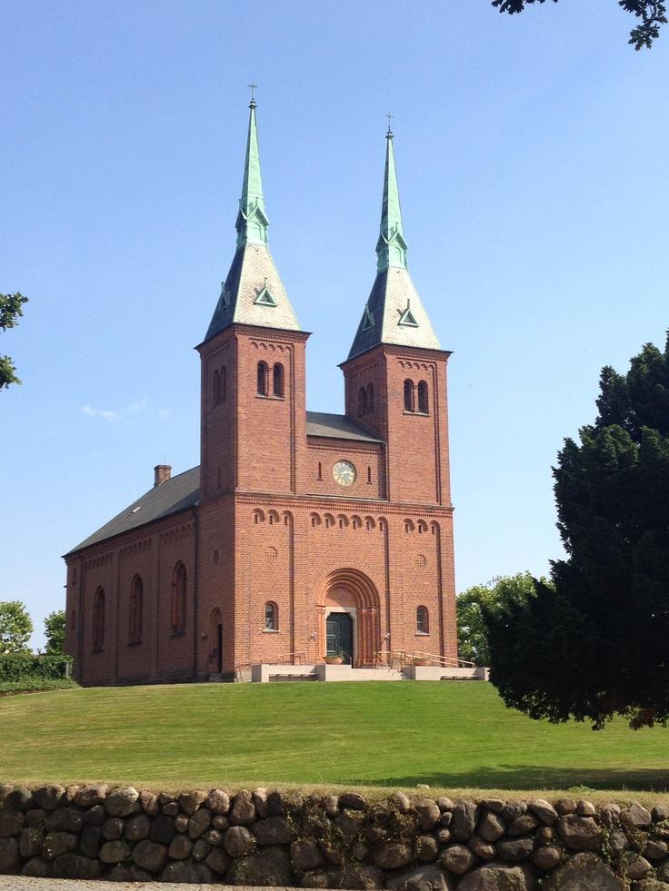 A beautiful church in Charlottenlund, Denmark.