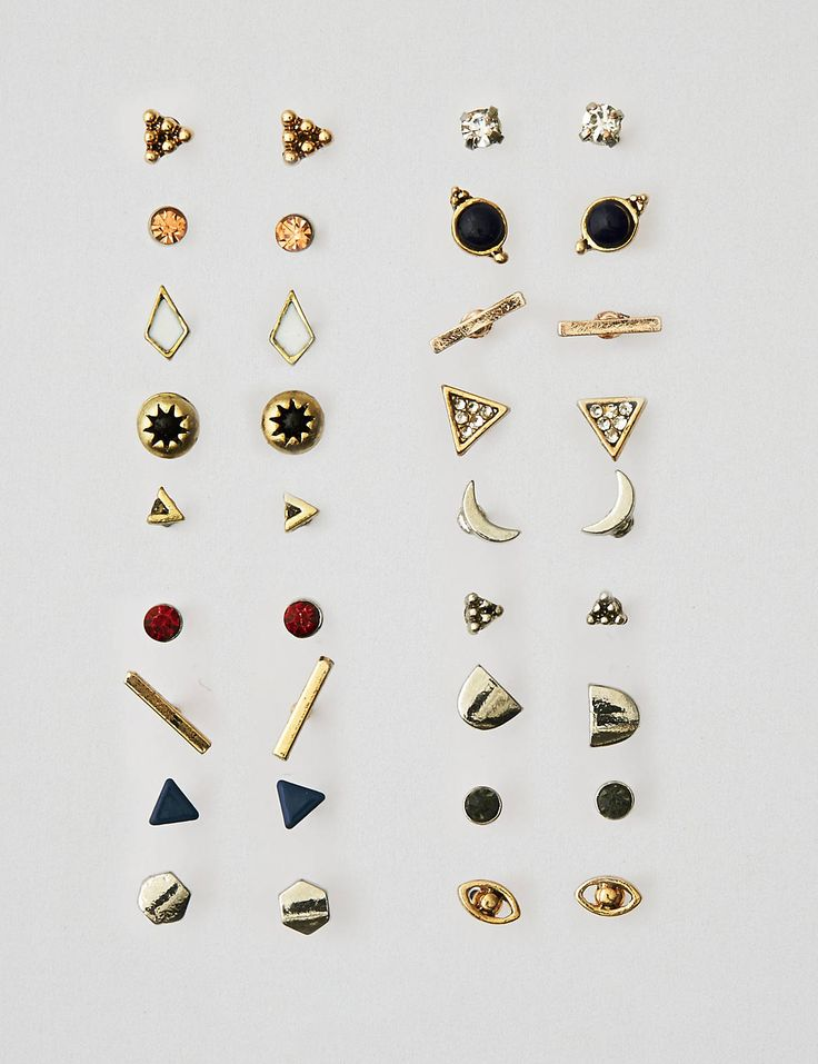 AEO 18-Pack Stud Earrings , Multi | American Eagle Outfitters