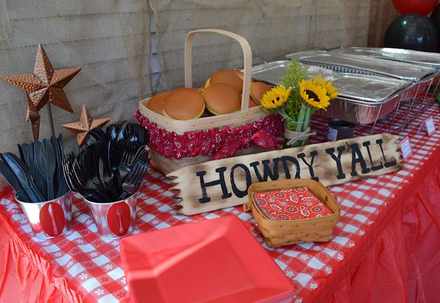 photos of country western party table settings | Bandana napkins are a cute find from Oriental Trading . Sara says ...