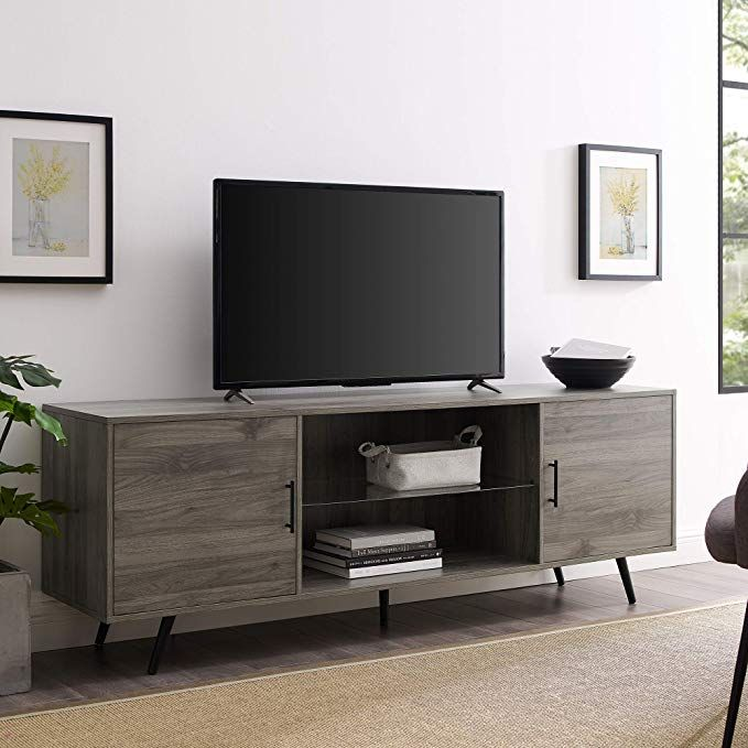 We Furniture Az70norsg Tv Stand 70 Slate Grey Review Living Room Tv Stand Mid Century Modern Tv Stand Grey Furniture Living Room