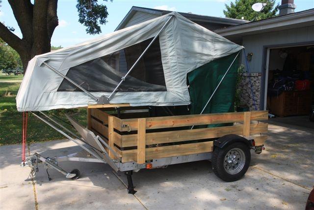 Moab Setup On Motorcycle Hauling Trailer Moab Diy Tent
