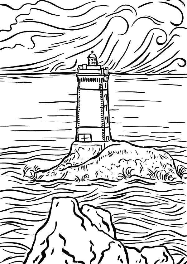 Pin On Seaside And Lighthouses Coloring Pages