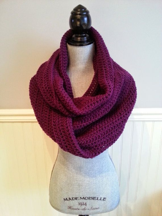 SALE  Circle scarf Purple scarf Winter scarf by KnittingMade4you
