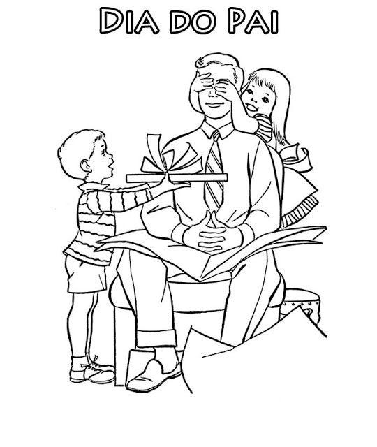 Desenhos E Mensagens Para O Dia Dos Pais Para Colorir With Images
