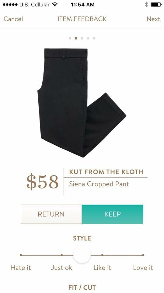 Kut From the Kloth Siena Cropped Pant in Black. I know I have these but would take a black pair too!