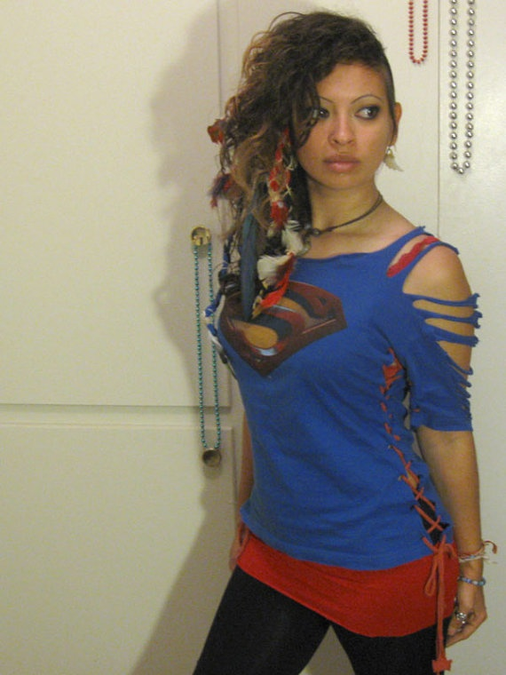 Super hero tshirt dress by myhunnystees on Etsy, $40.00