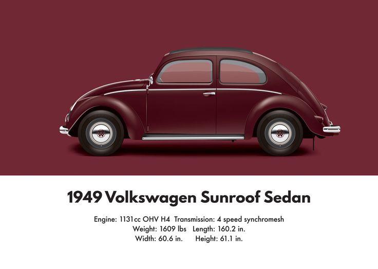 Vw Beetle 1949 Split Window Sunroof Sedan Vw Beetles Volkswagen Beetle