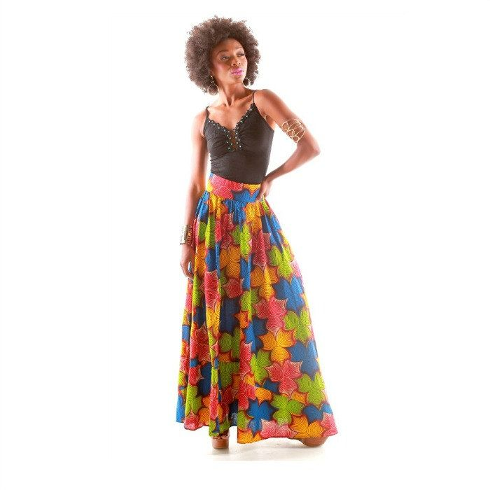 African Print Maxi Skirt - The KENTYA Maxi Skirt, African Fabric Maxi Skirt, Pink And Green Maxi  Skirt, Ankara Print  Skirt by ZabbaDesigns on Etsy