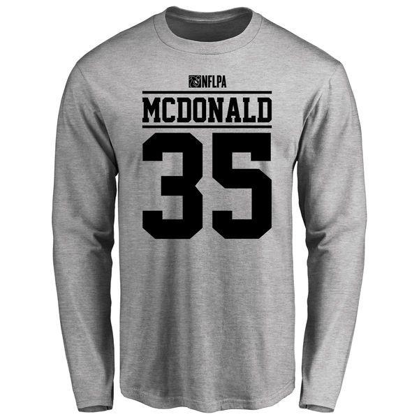 Dewey McDonald Player Issued Long Sleeve T-Shirt - Ash - $25.95