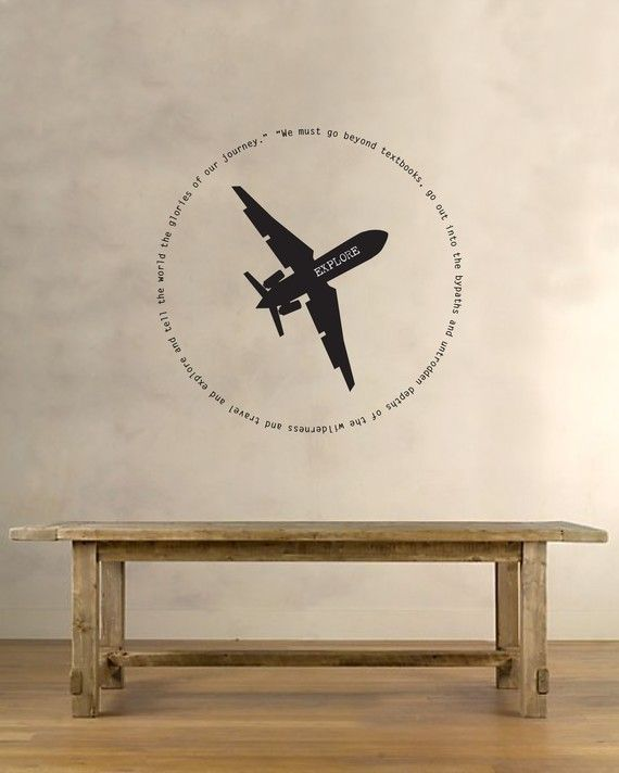 Best Planes Trains  Automobiles Wall Stickers  Decals - Vinyl wall decals airplane