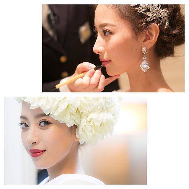 WEBSTA @ sunwei1013 - 式当日のメイク💄ヘアーメイクNAYAちゃん @hirokonaya にメイクして頂き、お色直しと二次会用などは式場スタッフさんが☺️和装の時はリップの色しか変えてないけど、それでも雰囲気違うよね💄マツエクは @malva_nail で、カール強めの長さ短めで自まつげのようなナチュラルな感じでつけて頂きました💖お気に入りすぎてハネムーンの時も同じようにマツエクしてもらったんだ☺️#青山セントグレース大聖堂 #weddingmakeup#ウエディングメイク #和装メイク #マツエク