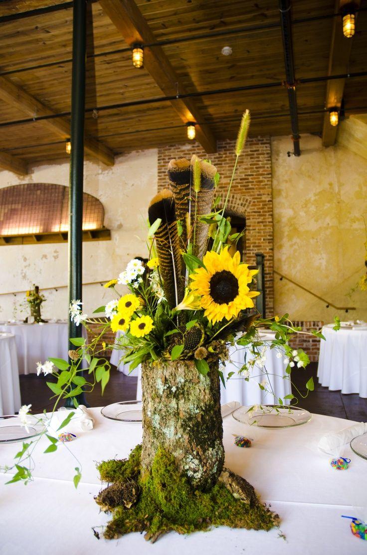 log centerpieces wedding | Log centerpiece | wedding