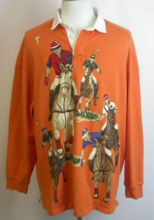 Vintage Polo Ralph Lauren 5 Horses Rugby Shirt Xl In 2019