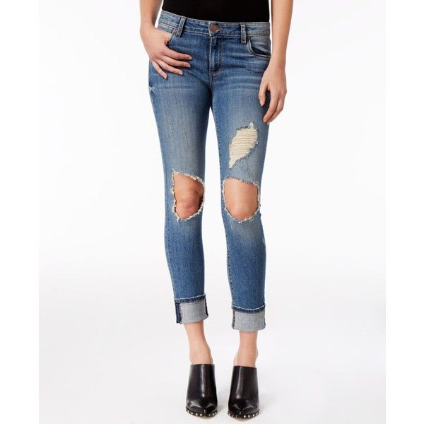 Sts Blue Taylor Ripped Boyfriend Jeans ($58) ❤ liked on Polyvore featuring jeans, fern canyon, white boyfriend jeans, distressed boyfriend jeans, boyfriend jeans, white ripped boyfriend jeans and white destroyed boyfriend jeans