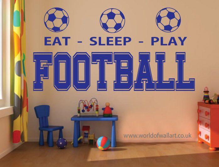 World Of Wall Art - Eat Sleep Play Football, £9.99 (http://www.worldofwallart.co.uk/eat-sleep-play-football/)