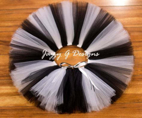 Black and White Tutu Zebra Tutu Cow Tutu Black by JazzyGDesigns