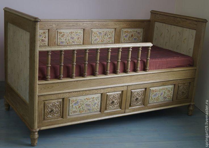 Мебель с росписью. Роспись №2 Филенки на спинке кровати - золотой,мебель с роспиью