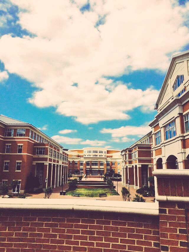 Beautiful view of the student union on UNC Charlottes campus
