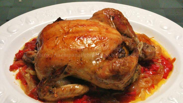 pollo picantón asado al horno en bolsa