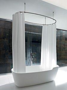 Oltre 25 fantastiche idee su supporto per doccia su - Tende per doccia bagno ...