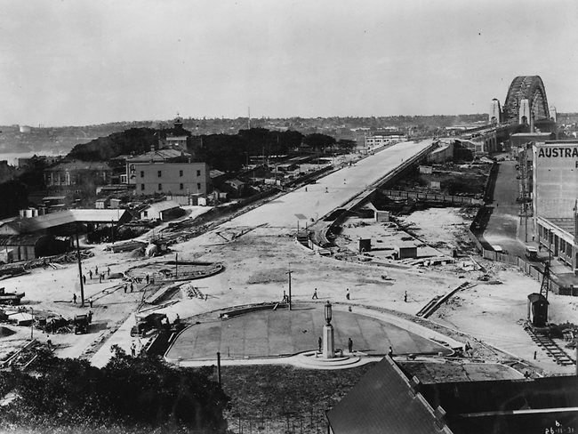 Sydney Harbour Bridge Southern Approach 1931