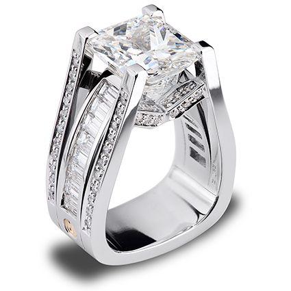 7.07ct Radiant Cut Diamond set in Platinum