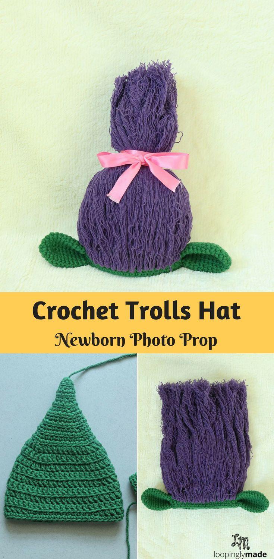 Crochet Newborn Trolls Hat Free Pattern Crochet Kids Pinterest