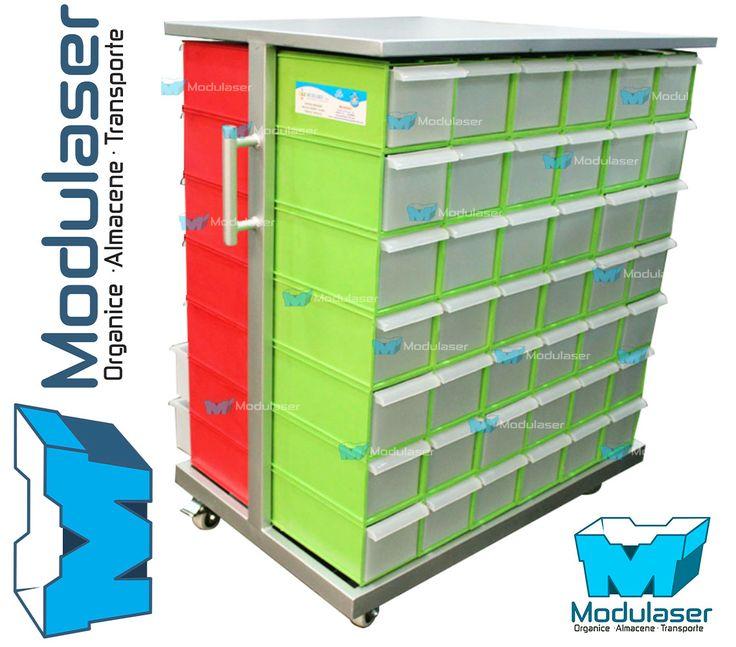 Gaveteros organizadores modulares, ideales para organizar, almacenar, clasificar y exhibir productos, mercancías e inventarios eficientemente. Logrando optimizar espacios, localizar más rápido tus productos y atender en menor tiempo a tus clientes. Variedad en tamaños, diseños y colores.Te brindamos asesoría personalizada, Te esperamos! Tel: 4145213 en Bogotá - WhatsApp: +57 318 4320023 -- +57 317 5022118 -- +57 3175130156. #Modulaser