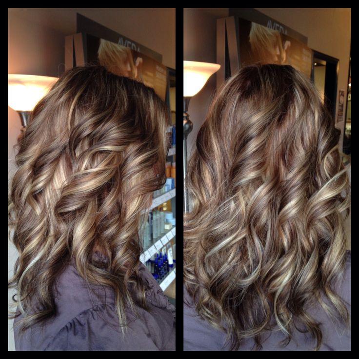 Highlights lowlights, chocolate and caramel, curls, Amber ...