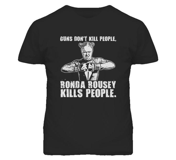 awesometshop - Ronda Rousey Mma UFC Fighting Judo Gold Medal Guns Dont Kill T Shirt