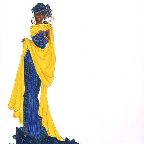 Blue, Wrapped in Yellow