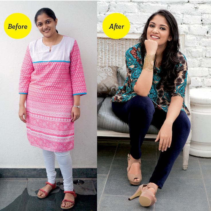 'It was an awesome experience because without involving drastic changes, I still looked different and felt good about myself when I saw the end result. I realised how beautiful I can look with a little time and thought spent on myself' -- Dr Amrtha Venugopal, one of the winners of GH makeover contest in Bengaluru.  GH Style Tip: Amrtha has a pear-shaped body with a small torso. The cape top with the busy print draws attention to her upper body and it ends midlength on her hips to hide the…