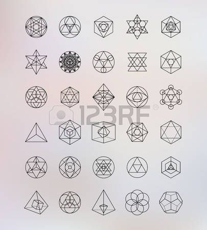 symbol: Heilige Geometrie. Alchemy, hipster Symbole Illustration