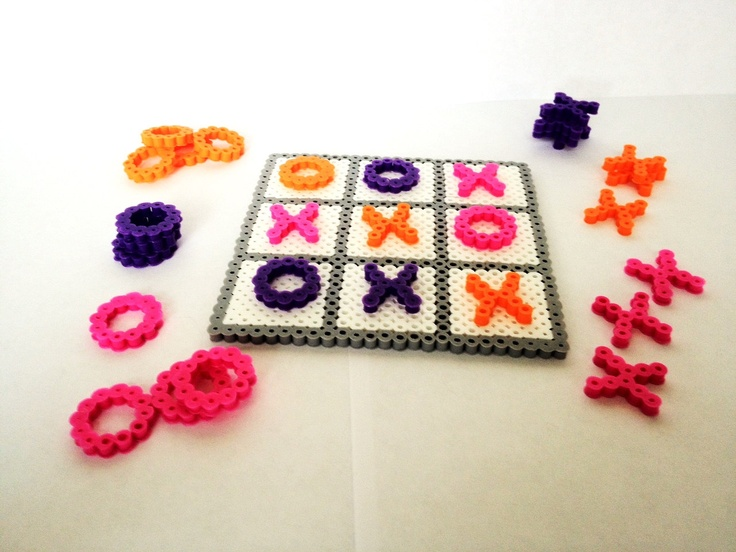 Tic Tac Toe Perler Bead Set. $5.95, via Etsy.