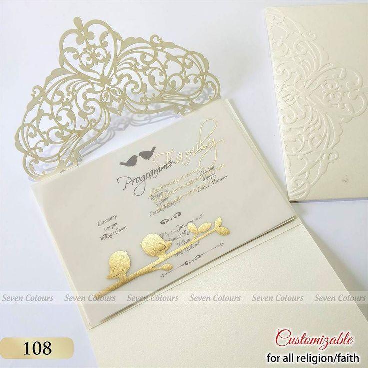 muslim wedding invitations mumbai%0A Golden printed love birds design on Tracing paper   weddingcards   weddinginvitation  wedding    WalimaWedding Cards