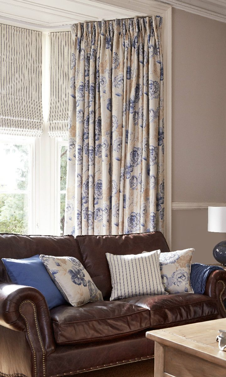 Patterned curtains living room - Use Delicate Patterned Blinds To Highlight Bold Coloured Curtains Blinds Curtains Interiors