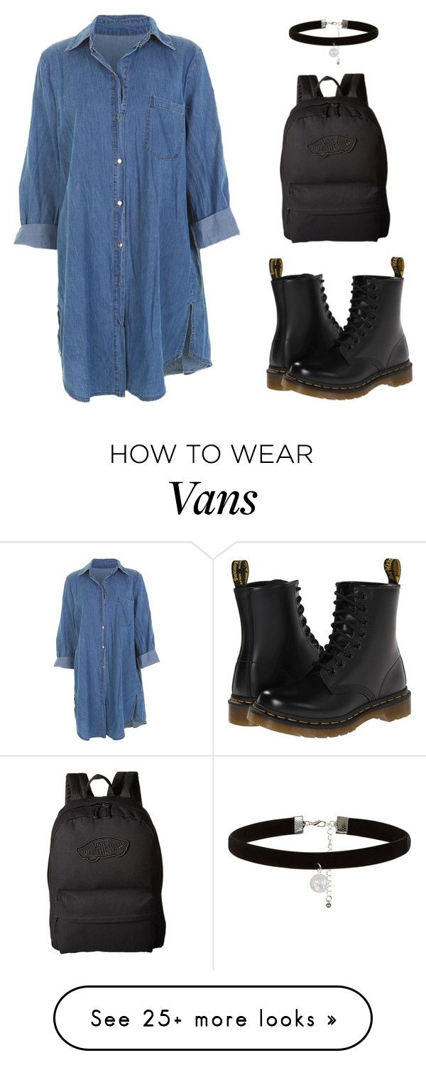 """Date Outfit #12"" by indiegopearl on Polyvore featuring Dr. Martens, Vans and New Look"