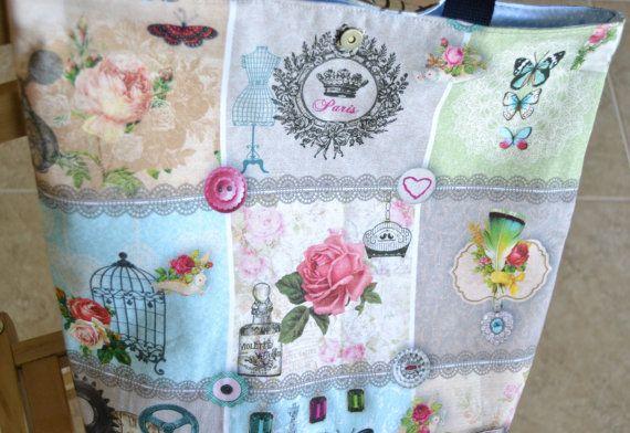 Saco de compras/saco de compras em tecidos by artgifts4you on Etsy