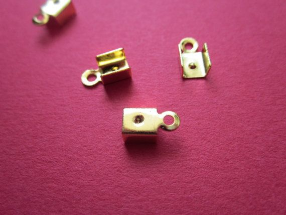 5mm Crimp Head Gold Plated http://etsy.me/1I3IvU6 #jewelry #ring #mount #brass #jewel #gem #bezel #setting #goldplated #gold #24k