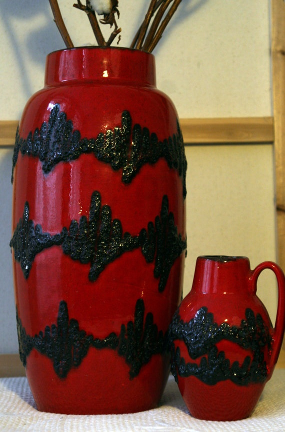Impressive Scheurich 55338 vase by VintageDesignCandy on Etsy, $189.00