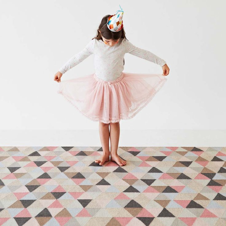 Designer Armadillo Co Woollen Kids Pink Rug