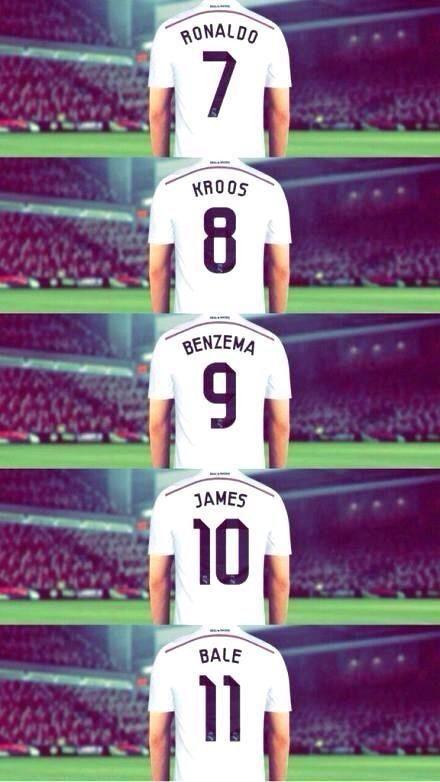 Real Madrid: la nueva era galáctica. Ronaldo, Kroos, Benzema, James y Bale. De ahí al 14  Chicharito
