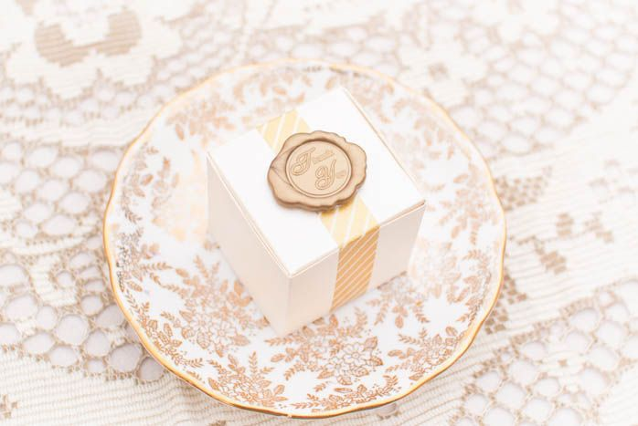 Washi tape and a wax seal sticker make a pretty little package.