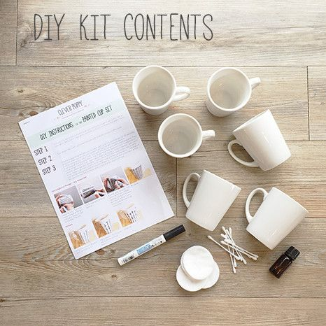 DIY Kit: Hand Painted Cups - everything you need to make these babies!