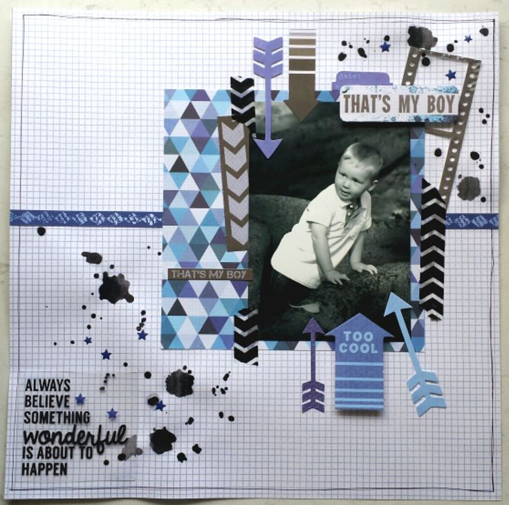 "2014-11-02 - ""That's My Boy"" by Amanda Baldwin. - Wendy Schultz ~ Scrapbook Pages 1."