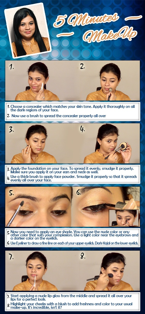 5 Minutes MakeUp Tutorial For Beginners!!!!!  http://www.youtube.com/watch?v=ZllUaF8XY28