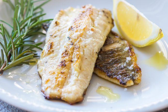 Grilled White Fish with Brown Sugar Butter - Easy ingredients that are found in your pantry.  Great for halibut or any other white fish.  -Krista Gilbert